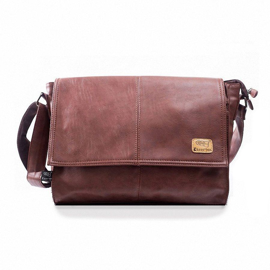 Mens Leather Laptop Satchel