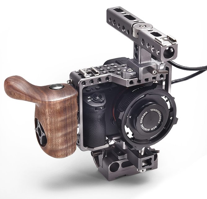 Sony A7 Rig Cage Baseplate and Wooden Handle