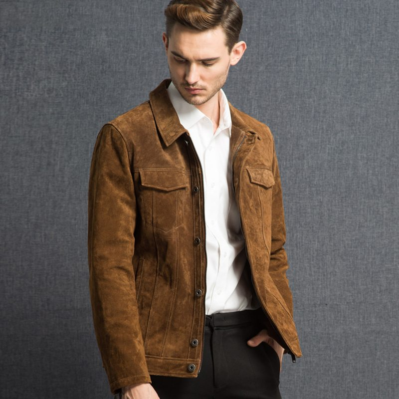 Leather Suede Mens Jacket