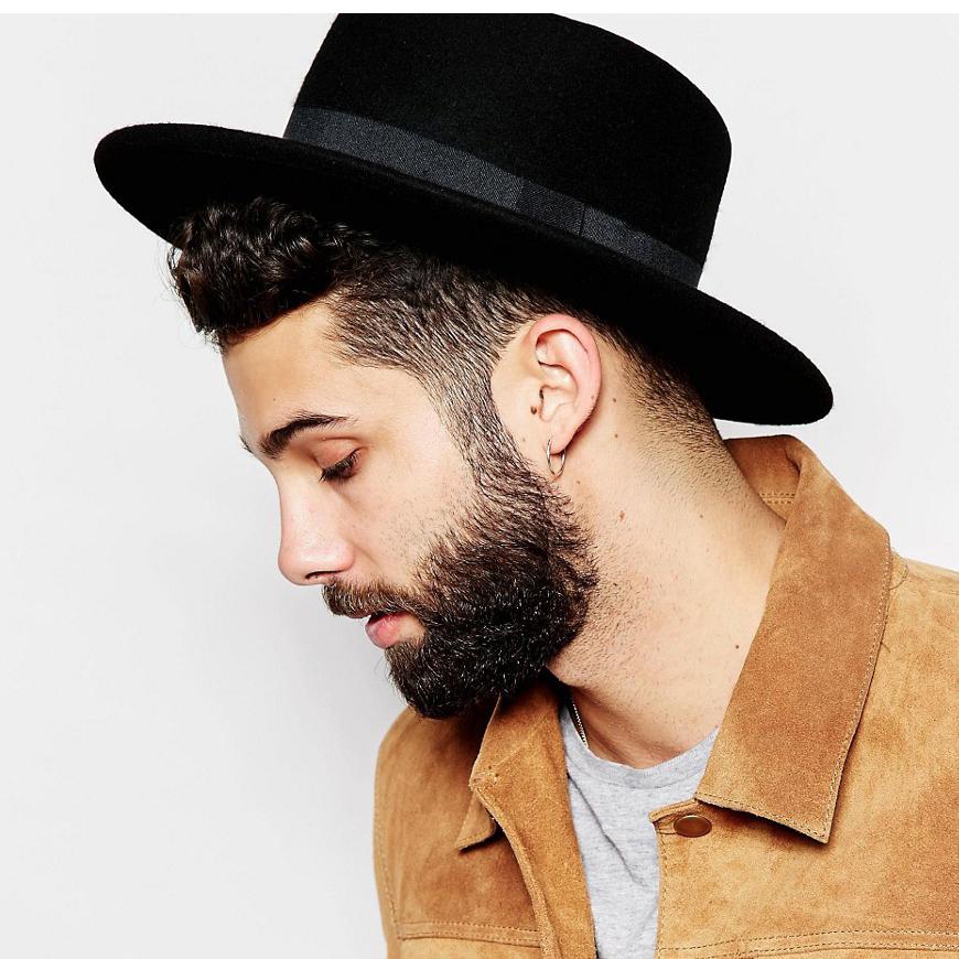 Mens Wool Boater Hat 8d6e623c451