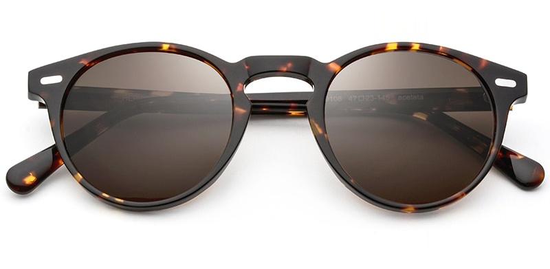 Vintage Polarized Keyhole Sunglasses