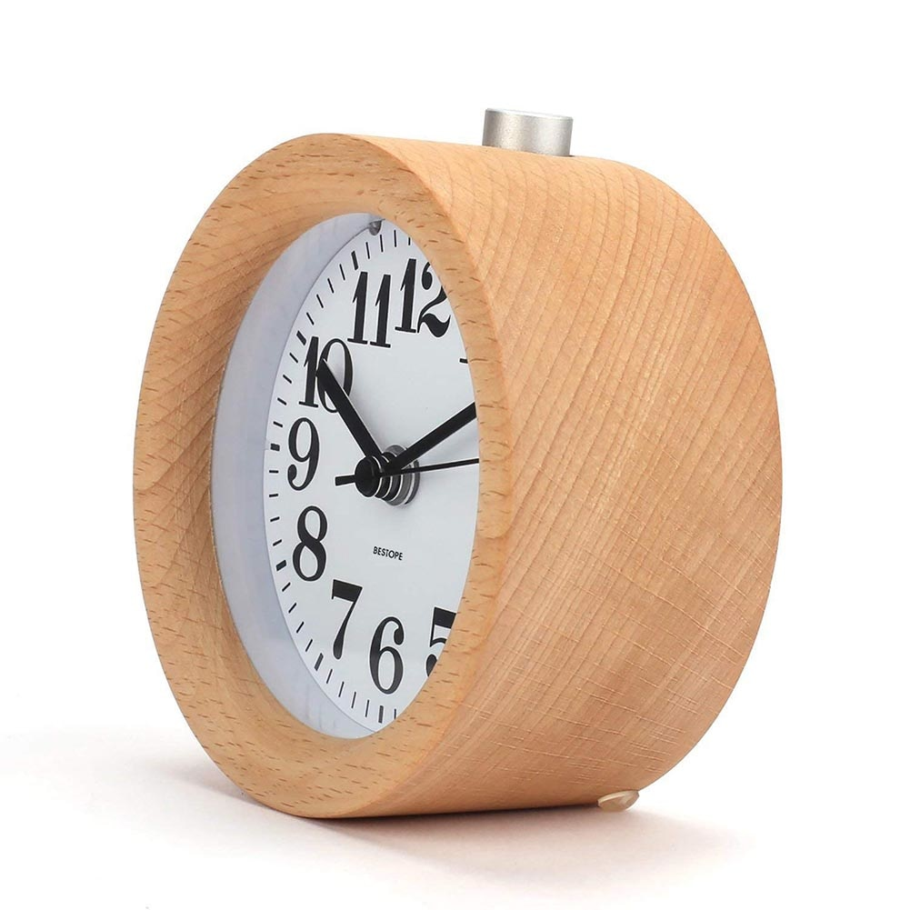 Round Wood Side Table Clock   $20.97 On AliExpress, Via Thieve